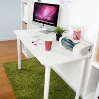 尼德 亚当系列E1级环保台式电脑桌子办公AC2DW-E1(120*60)暖白面白腿