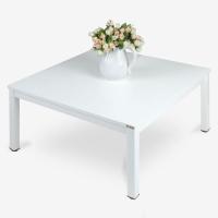 尼德(need)方型炕上麻将桌矮桌子茶几 家用简易日式方形小桌子 AF4DW (80*80) E1级环保无味 暖白面白框架