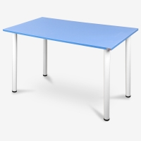 尼德 亚当系列E1级环保书桌子家用AC2JW-E1(120*60)蓝面白腿