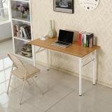 尼德 亚当系列E1级环保钢架折叠餐桌子家用AC5BW-E1(120*60)柚木面白框