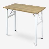 尼德(need) 可折叠学习桌子 家用办公户外 AC5BW (80*40) E1级环保无味 柚木面白框