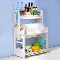 宝优妮碗碟架 调料架刀架沥水架 筷子筒餐具调料盒收纳架 厨房置物架 厨房用品DQ1302