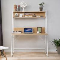生活诚品 电脑桌 书桌 台式电脑桌子 带书架家用桌 桌CJ15812W