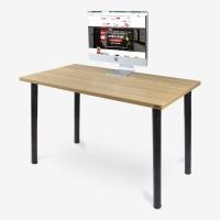 尼德(need)电脑桌 加厚时尚耐用学习办公家用书桌 AC1BB (120*60) E1级环保无味 柚木面黑腿