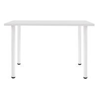 尼德 亚当系列E1级环保单人台式电脑桌子办公AC2DW-E1(100*60)暖白面白腿