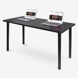 尼德(need)加大台式办公电脑桌子 时尚简约家用办公会议专用 AC1CB-E1 (140*60) E1级环保无味 黑橡面黑腿