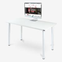 尼德(need) 电脑桌简易台式 加厚 家用学习书桌 AC1DW (120*60) E1级环保无味 白面白腿