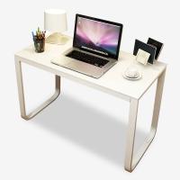 雅美乐 电脑桌 台式家用简易办公桌 电竞桌U型笔记本桌子 白色钢化玻璃+白色铁架 100*60*75 YSZW2