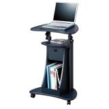 思客 笔记本电脑桌站立式电脑桌升降办公桌 移动演讲台 黑石纹色