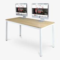 尼德(need)电脑桌 会议培训办公桌子 AC3BW (140*60) E1级环保无味 柚木面白框架