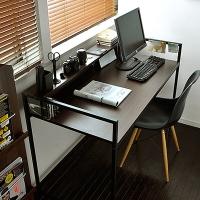 家逸 台式电脑桌书房办公桌书桌写字台简易电脑桌黑胡桃色
