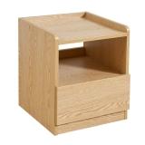 掌上明珠家居 床头柜 北欧现代床头柜 仿实木木纹板式床头柜 ESA416-A262