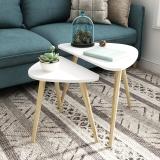 慧乐家 茶几边桌 边桌角几茶台桌矮桌套装实木腿客厅北欧简易现代简约阳台小户型小茶桌子 11405