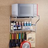 千恩千喜 QEQX SUS304不锈钢 微波炉架子 厨房置物架 收纳架 烤箱架支架 壁挂 W-2A58