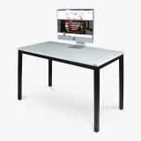 尼德(need)电脑桌 会议培训办公桌子 AC3DB (120*60) E1级环保无味 暖白面黑框架