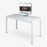 尼德(need)电脑桌 办公家用写字电脑桌子 AC3DW (120*60) E1级环保无味 白面白框架
