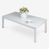 尼德(need)茶几 家用简易日式小桌子 AF4DW (120*60) E1级环保无味 暖白面白框架