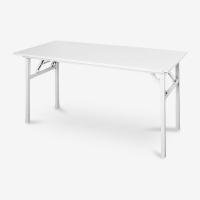尼德(need)可折叠电脑桌子 家用办公会议培训桌 AC5DW (140*60) E1级环保无味 暖白面白腿