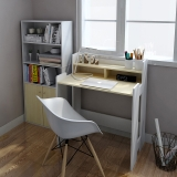 慧乐家 电脑桌 漫雅双层电脑书桌 白枫木色 11345