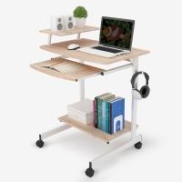 思客 电脑桌台式家用笔记本桌小桌子写字台 浅橡木色