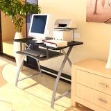 慧乐家 电脑桌 新型办公电脑台 台式桌家用简约书桌写字台 黑色 22005-1