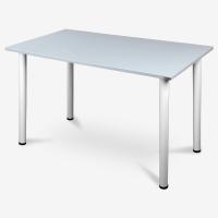尼德(need) 多功能简易耐用办公桌子 公司培训室办公室专用 AC2GW(120*60) E1级环保健康 灰面白腿