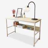千意爱家居 电脑桌简约时尚多功能书桌笔记本电脑桌白枫木白架  DNZ2130