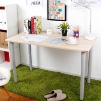 尼德 亚当系列E1级环保书桌子办公AC2AS-E1(120*60)粉橡面灰腿