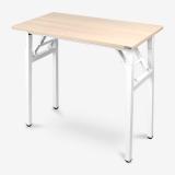 尼德(need) 可折叠电脑桌子 户外会议便捷 AC5AW (80*40)   E1级环保无味 粉橡面白框