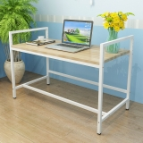 香可 升降电脑桌 书桌 写字台 可自由调节高度浅白色