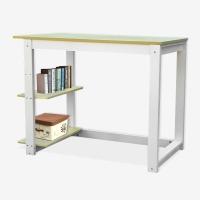 HMJIA Z-204F 简约电脑桌台式家用带书架 简易台式电脑桌书桌办公桌 写字台枫木色