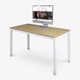 尼德(need)电脑桌家用会议培训办公桌子 AC3BW (120*60) E1级环保无味 柚木面白框架