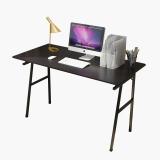 朗程简约台式电脑桌平板桌 B2003A黑胡桃色