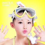 WaterTime蛙咚 儿童潜水镜男女童浮潜三宝青少年装备潜水镜呼吸管套装 黄色