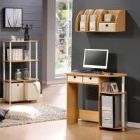 慧乐家 电脑桌 台式家用学生学习桌 简约写字台 书桌 木纹色 11193