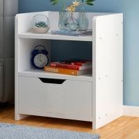 时黛家居床头柜 简约带抽屉床头柜收纳柜储物柜斗柜
