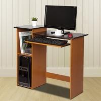 慧乐家 电脑桌 家用台式学习桌 简约办公桌 樱桃木+黑色 99914-1