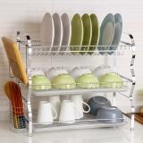 欧润哲 碗碟架 22寸3层厨房餐具沥水刀碗筷杯子置物架