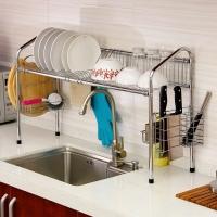 欧润哲 水槽架 多功能双槽加固碗碟刀菜板筷洗手盆沥水收纳架