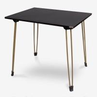 尼德(need)创意简易便携可折叠桌子 简约时尚家用办公电脑咖啡桌子 AC4CCH (80*60) E1级环保 黑橡色