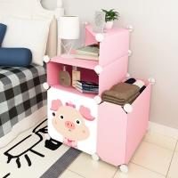 安尔雅(ANERYA)简易床头柜 现代简约储物柜迷你组装收纳柜塑料床边柜子