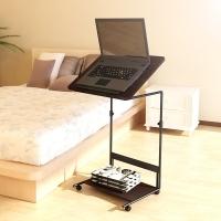 慧乐家 电脑桌 泊雅特可升降笔记本电脑桌 户外休闲桌边桌 胡桃木色 22090