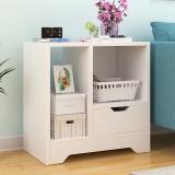 朗程床头柜 简约收纳柜储物型斗柜带抽屉白色