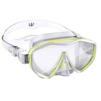 WaterTime/蛙咚 潜水镜 浮潜潜水面具 成人水镜装备大框蛙镜 黄色