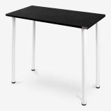 尼德(need) 小户型电脑桌子 简易餐厅边桌 AC238CW  (80*40)   E1级环保无味 黑橡面白腿