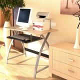 慧乐家 电脑桌 新型办公电脑台 台式桌办公桌学习桌 竹木纹色 22005