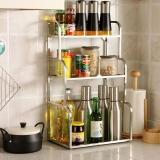 欧润哲 置物架 不锈钢方管3层厨房调味瓶收纳架