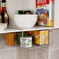欧润哲 下挂篮 不锈钢加粗线径强承重款厨房杂物下挂抽屉篮 2只装