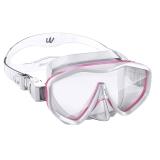 WaterTime/蛙咚 潜水镜 浮潜潜水面具 成人水镜装备大框蛙镜 粉色