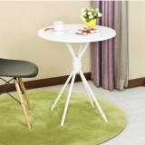 慧乐家 餐桌 简约圆桌边桌 茶几学习桌 白色 22135-1
